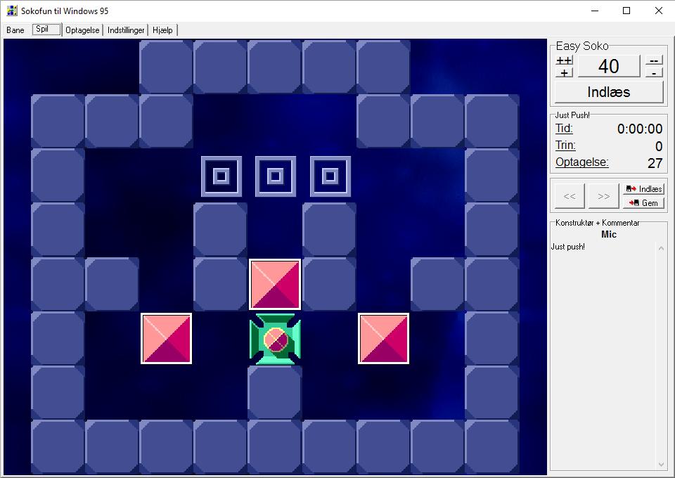 Sokofun. Not Mics hardest puzzle.